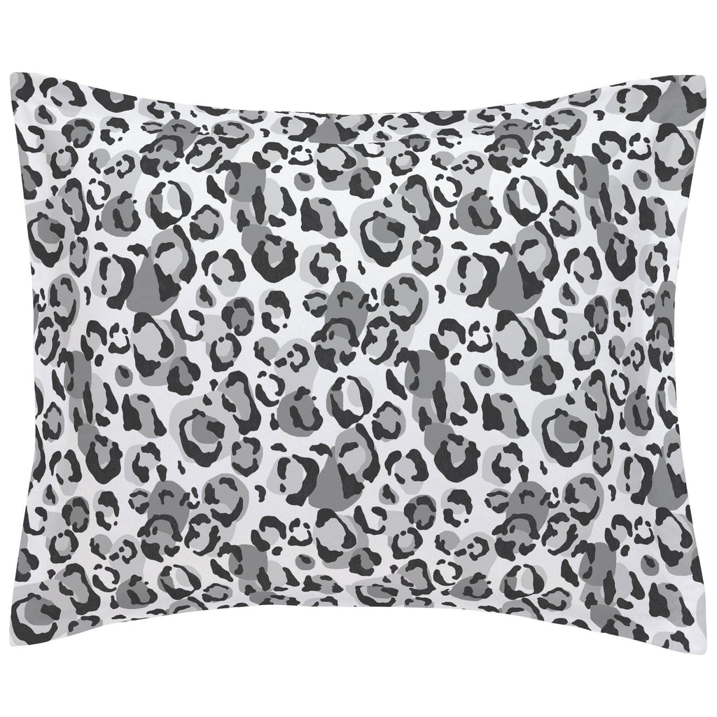 Product image for Gray Leopard Pillow Sham