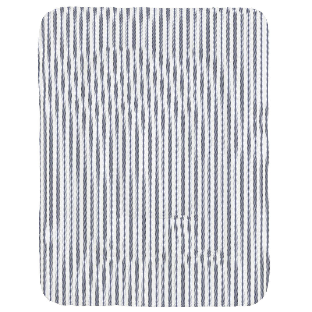 Product image for Windsor Navy Ticking Stripe Crib Comforter