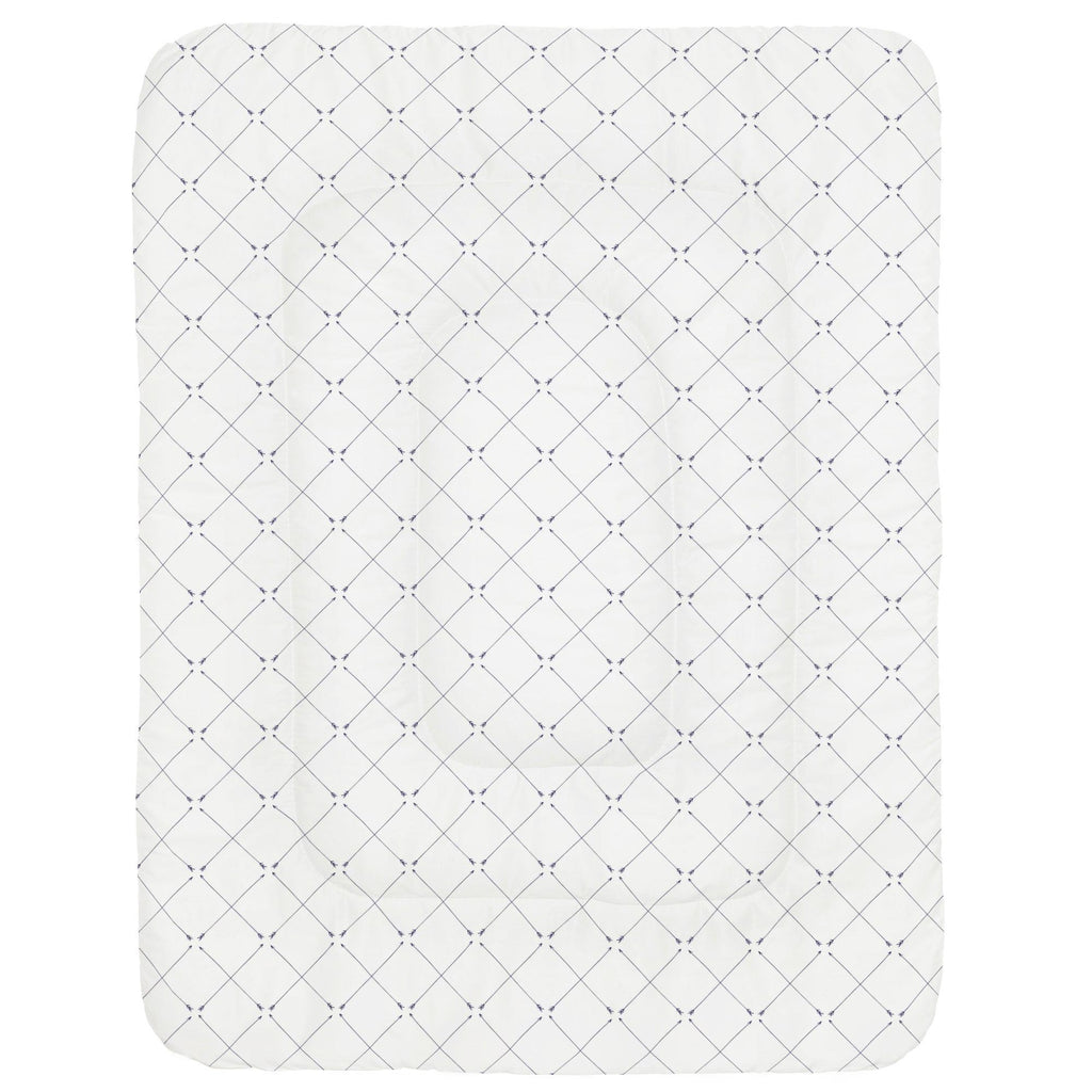 Product image for Navy Cross Arrow Crib Comforter