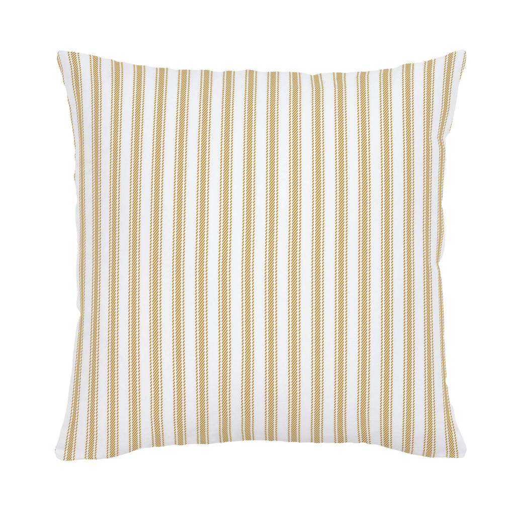 Product image for Mustard Ticking Stripe Throw Pillow