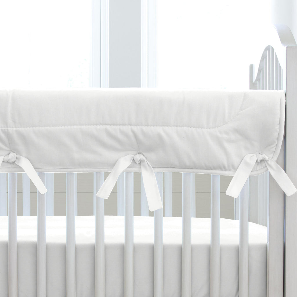Product image for Solid Antique White Crib Rail Cover