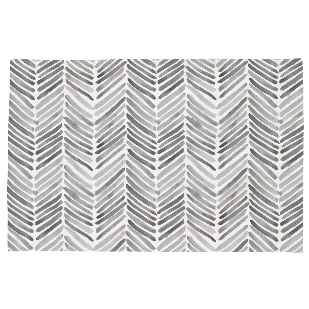Product image for Gray Painted Chevron Toddler Pillow Case
