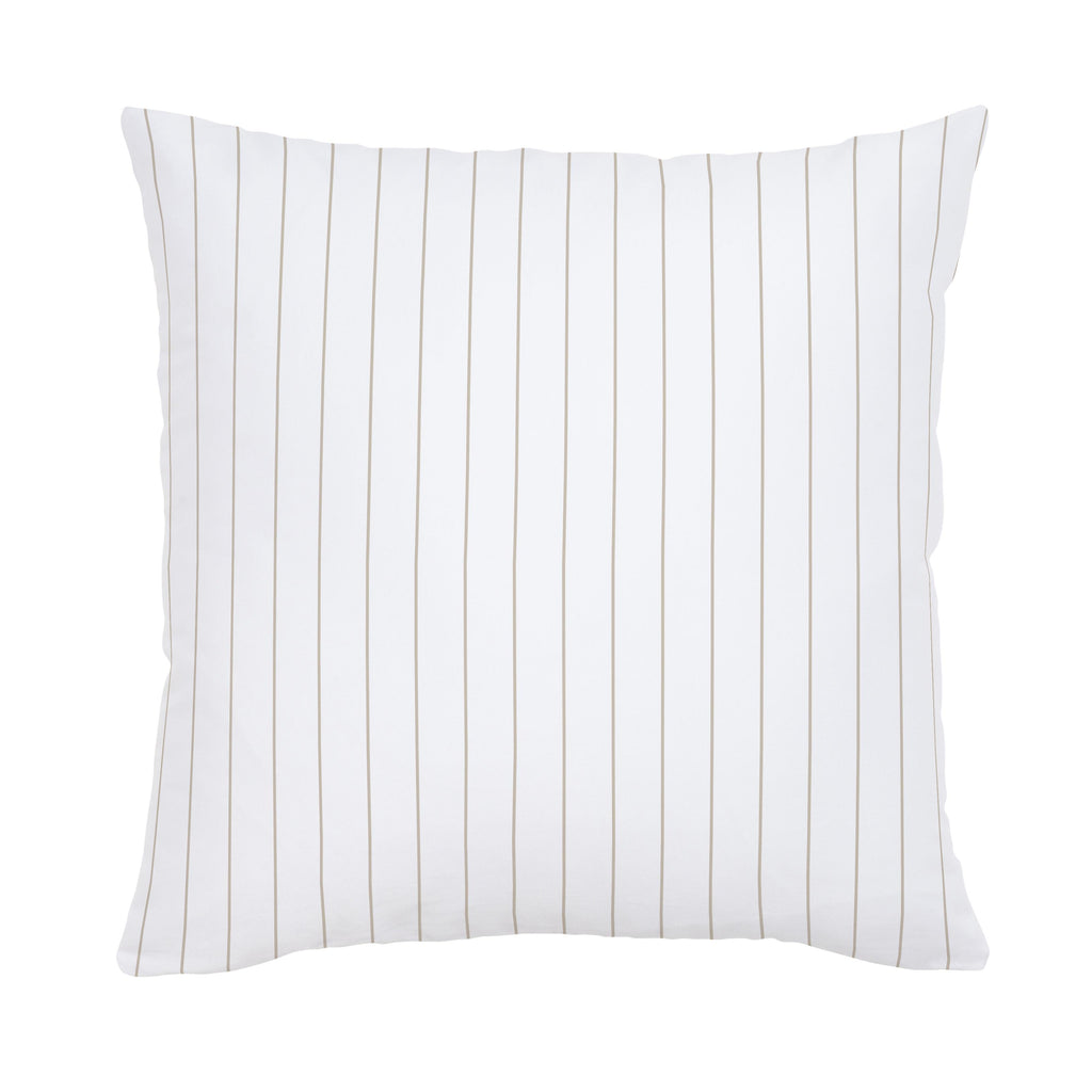 Product image for Taupe Pinstripe Throw Pillow