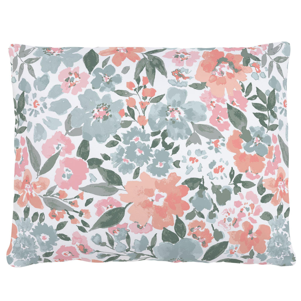 Product image for Peach Prairie Floral Accent Pillow