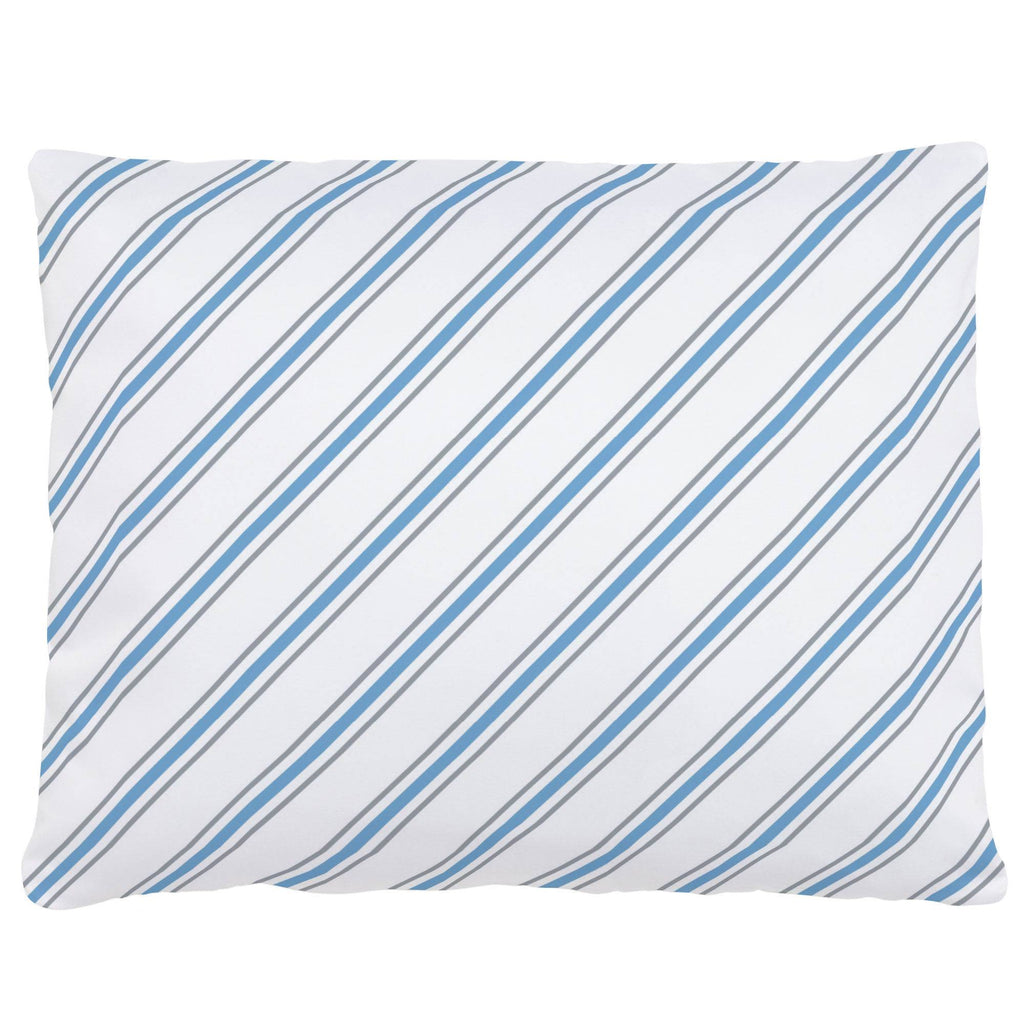 Product image for Gray and Sky Blue Necktie Stripe Accent Pillow