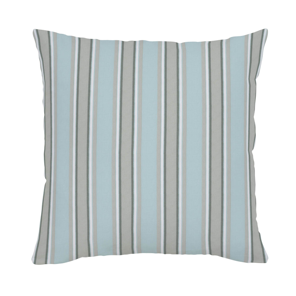 Product image for Mist and Gray Stripe Throw Pillow