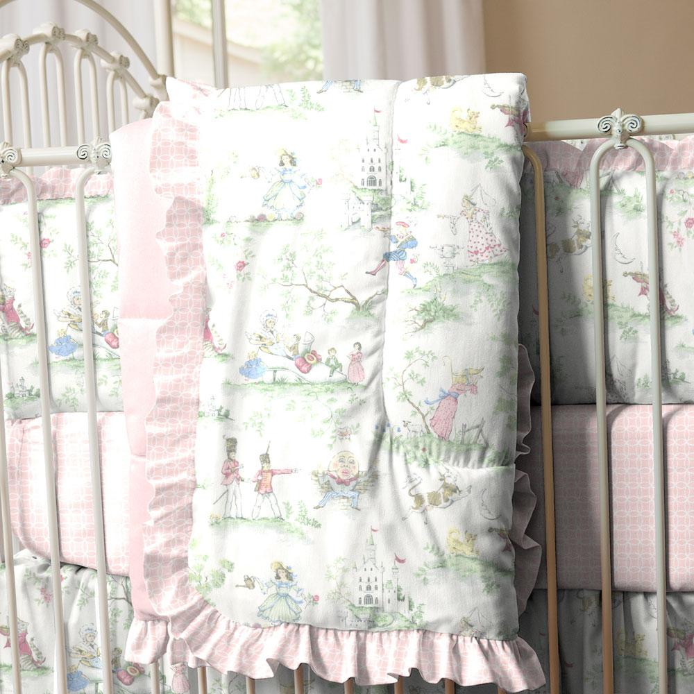 Product image for Nursery Rhyme Toile Crib Comforter with Ruffle