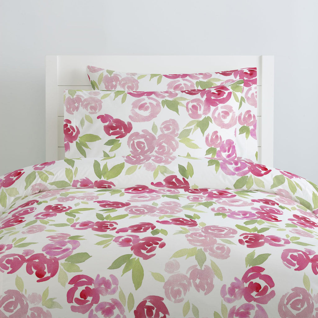 Product image for Watercolor Roses Duvet Cover