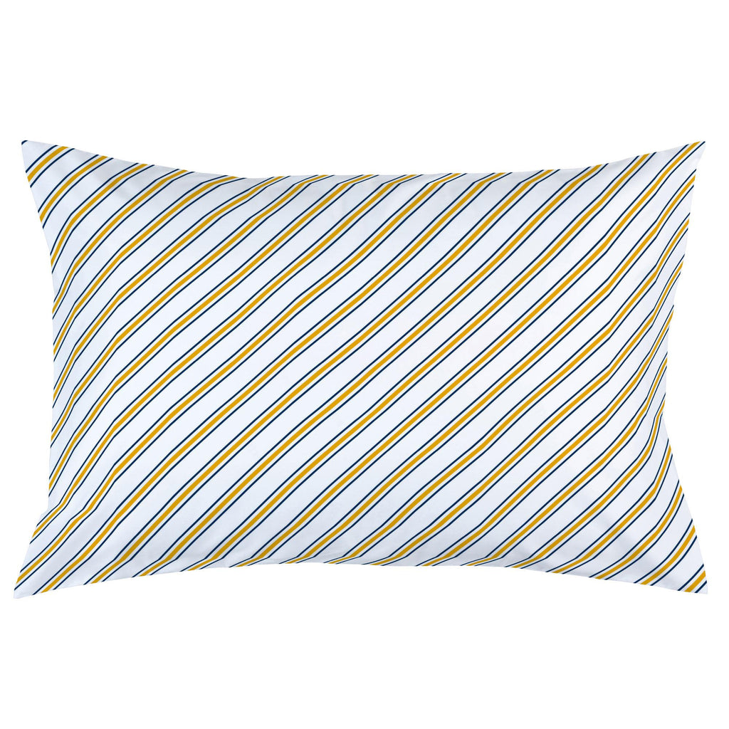 Product image for Navy and Yellow Necktie Stripe Pillow Case