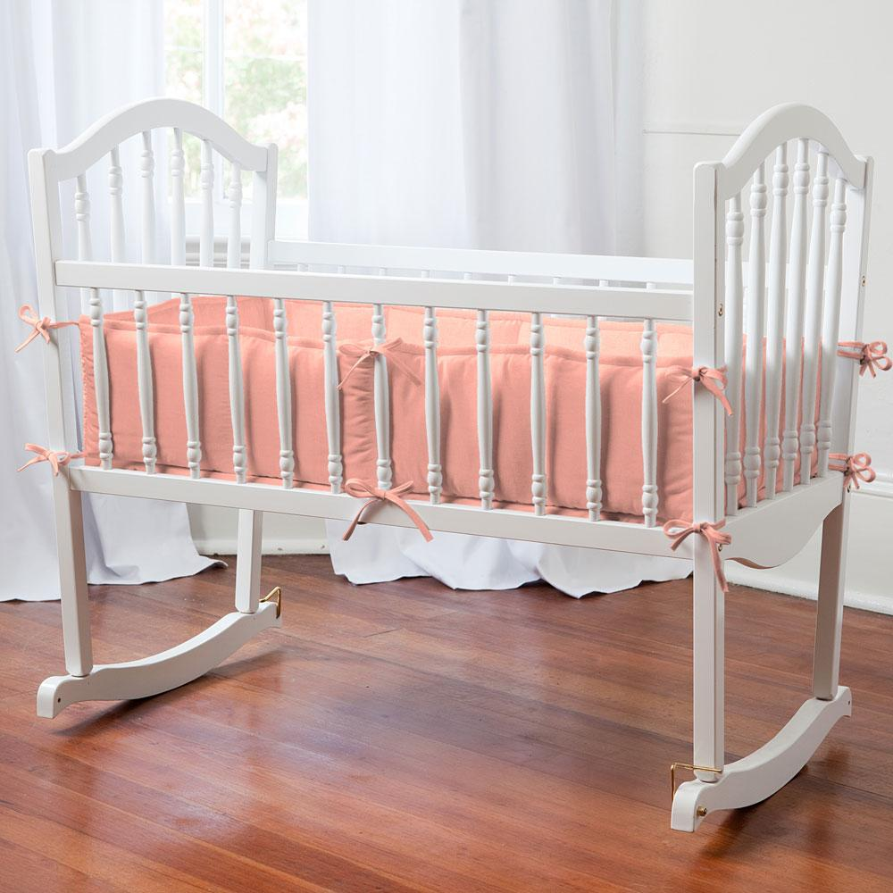 Product image for Solid Light Coral Cradle Bumper