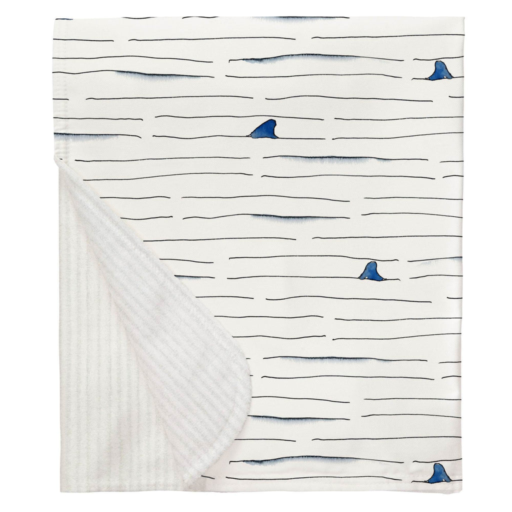Product image for Shark Fin Stripe Baby Blanket