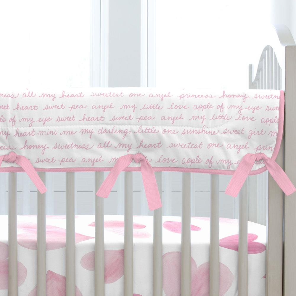 Product image for Bubblegum Pink Sweet Girl Crib Rail Cover