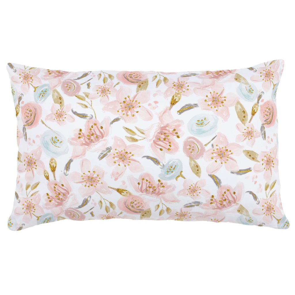 Product image for Pink Hawaiian Floral Lumbar Pillow