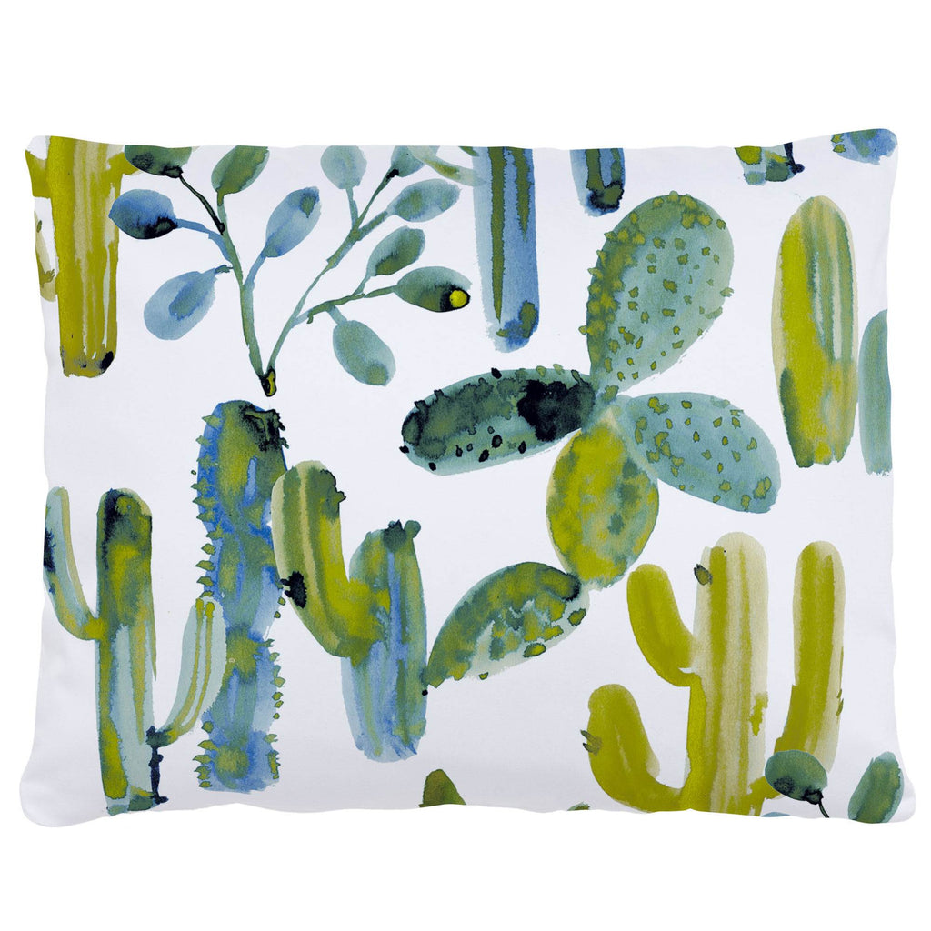 Product image for Blue Painted Cactus Accent Pillow