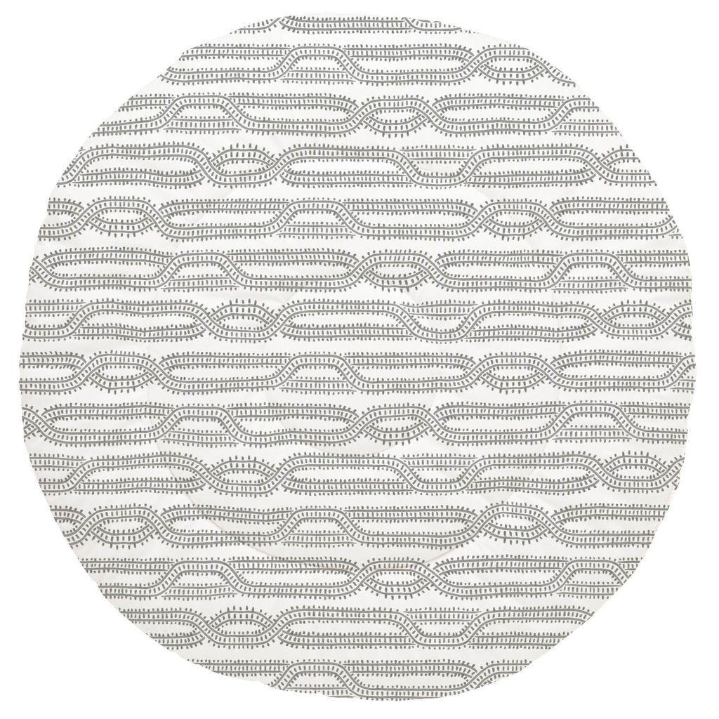 Product image for Gray Train Tracks Baby Play Mat