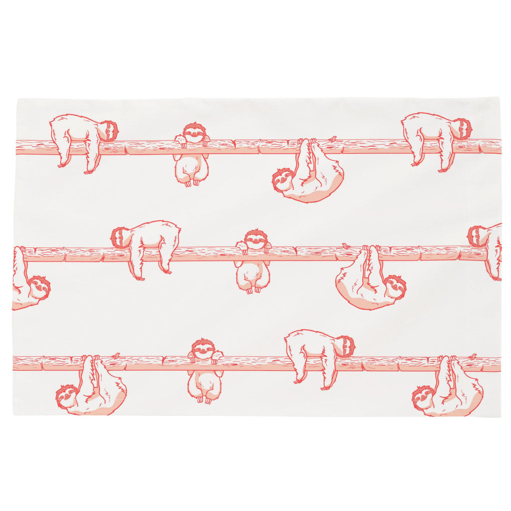 Product image for Coral Sloth Toddler Pillow Case
