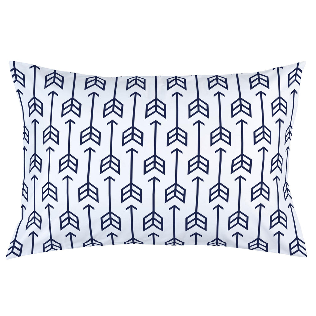 Product image for Navy Arrow Pillow Case