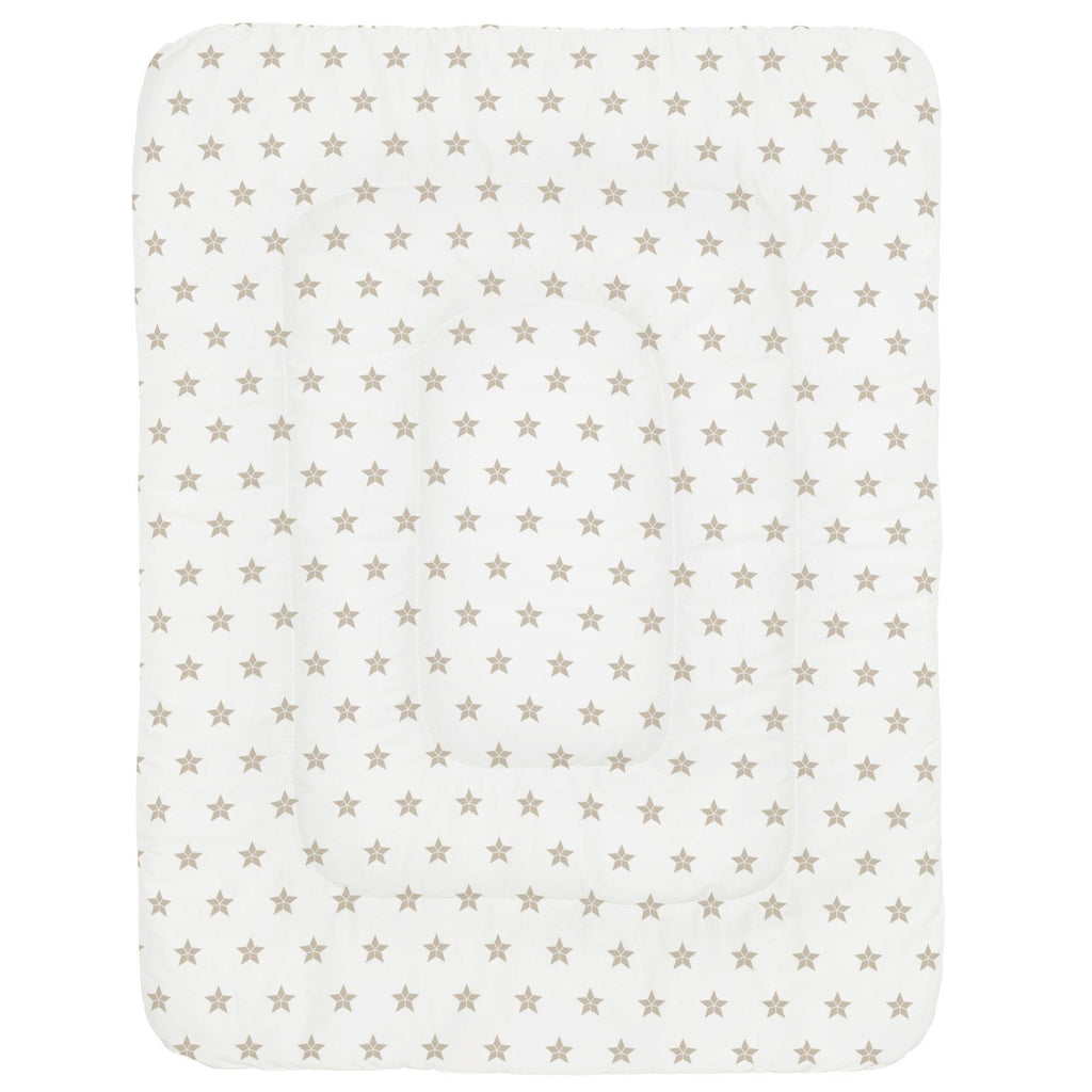 Product image for Taupe Mosaic Stars Crib Comforter