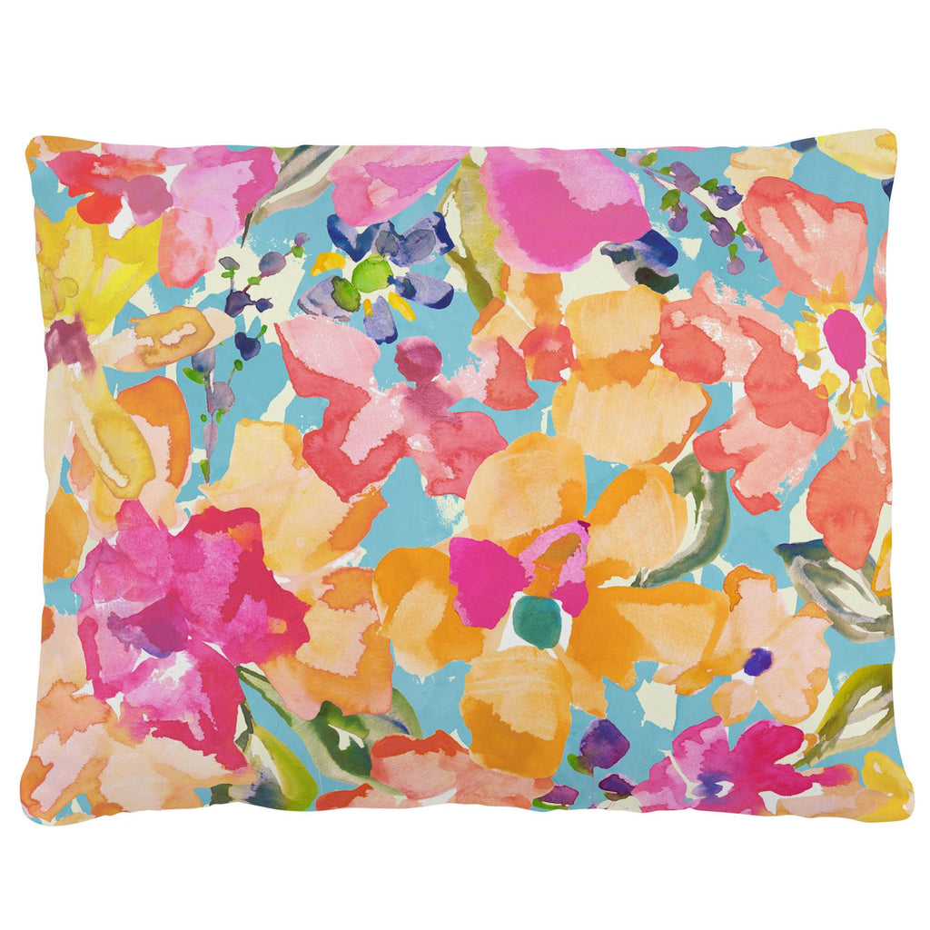 Product image for Coral Flower Bouquet Accent Pillow