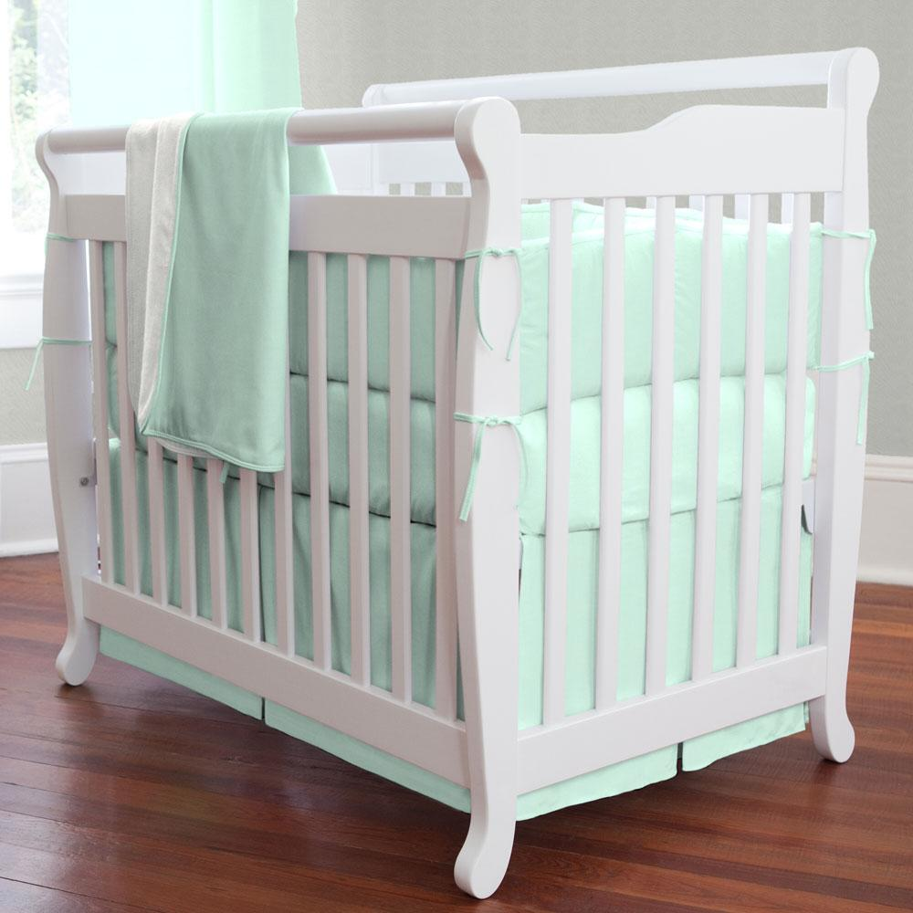 Product image for Solid Mint Mini Crib Bumper