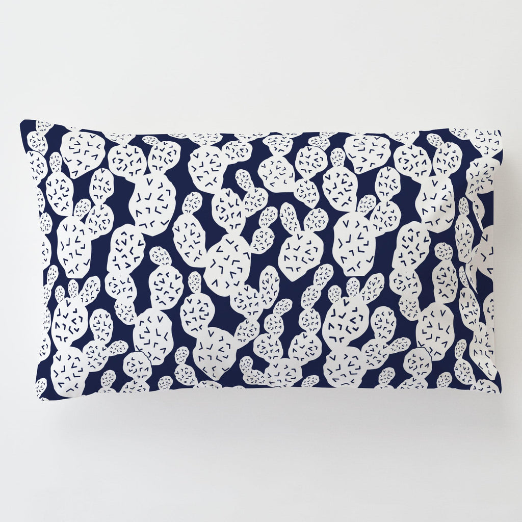 Product image for Navy Prickly Pear Toddler Pillow Case with Pillow Insert