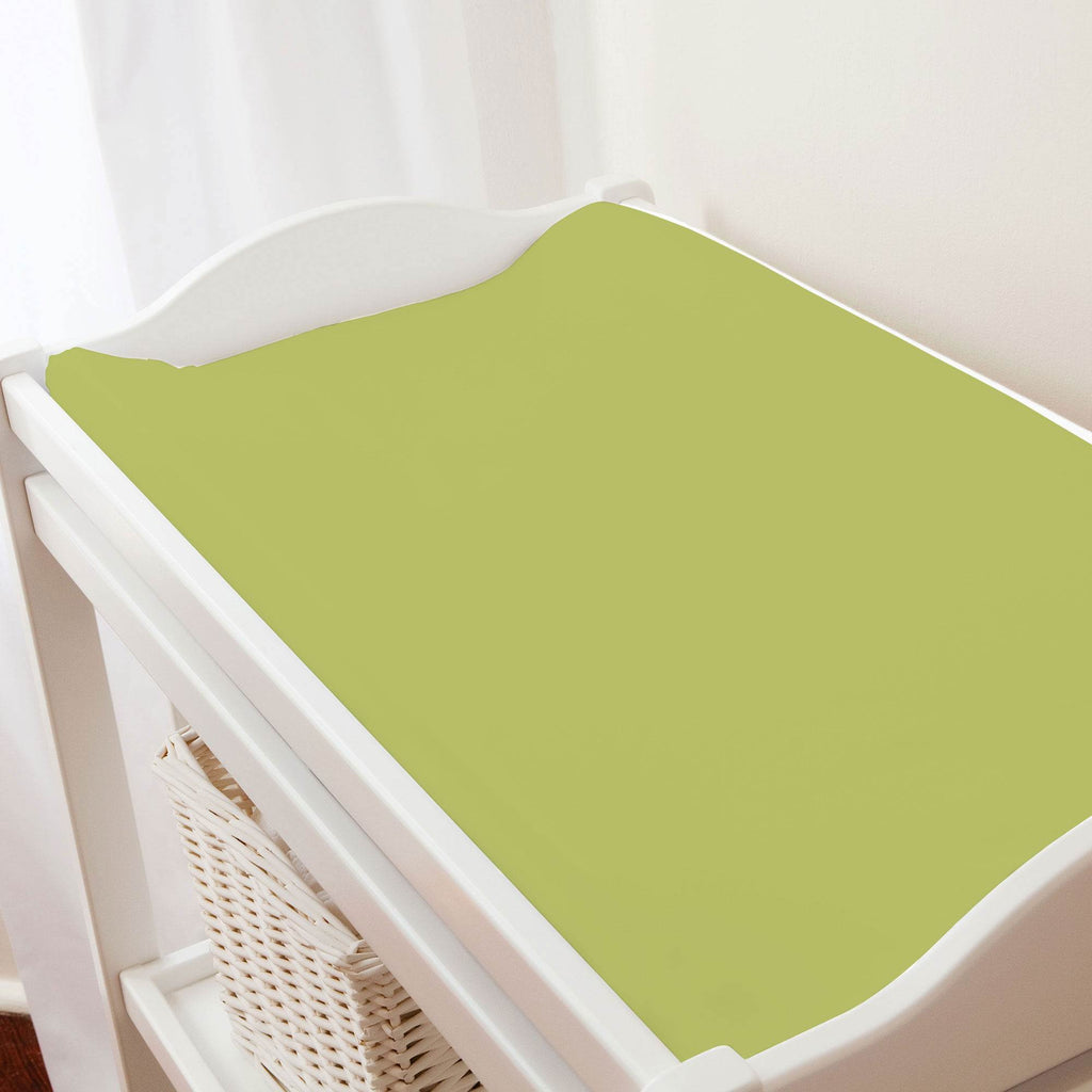 Product image for Solid Citron Changing Pad Cover