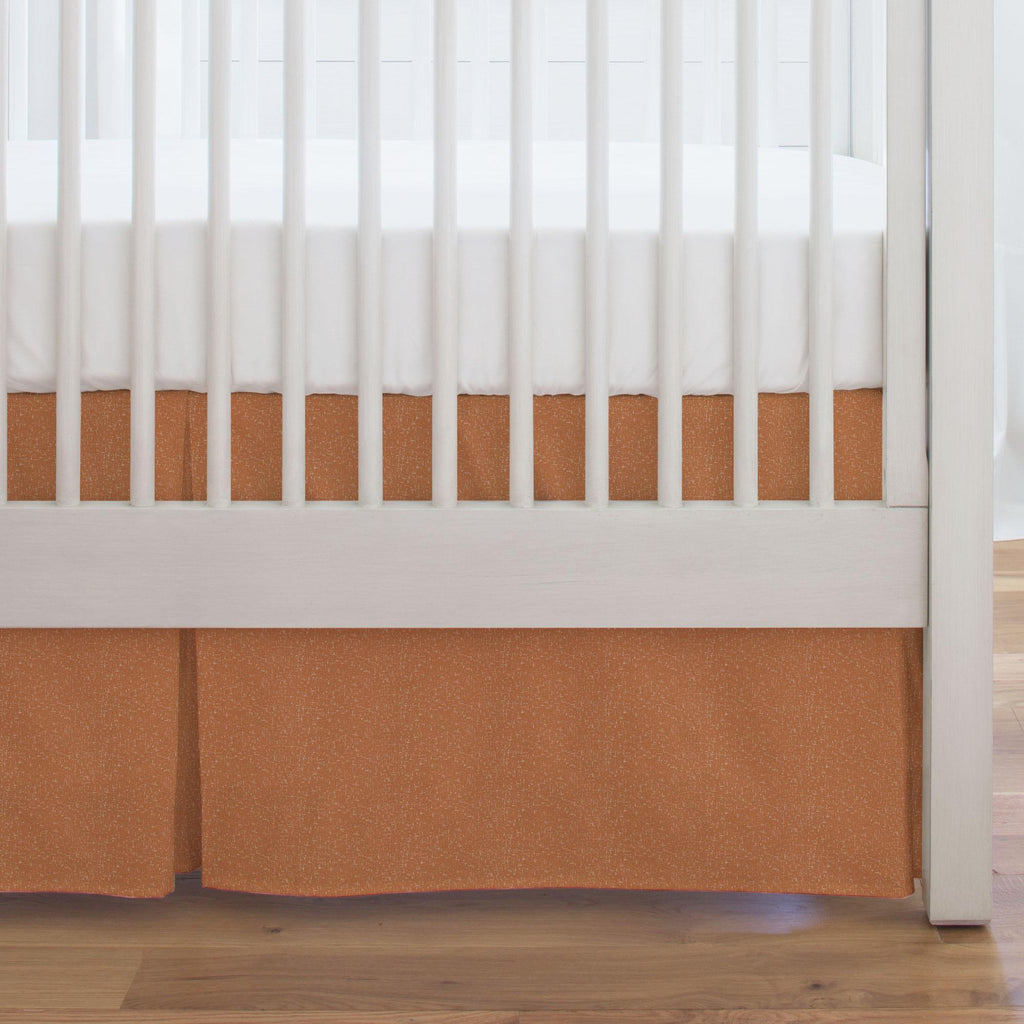 Product image for Fox Orange Heather Crib Skirt Single-Pleat