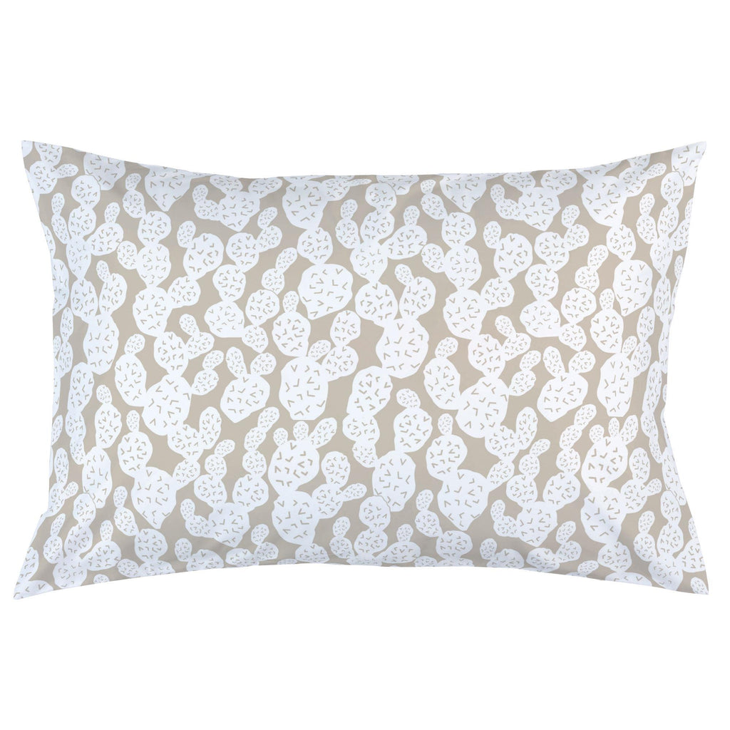 Product image for Taupe Prickly Pear Pillow Case