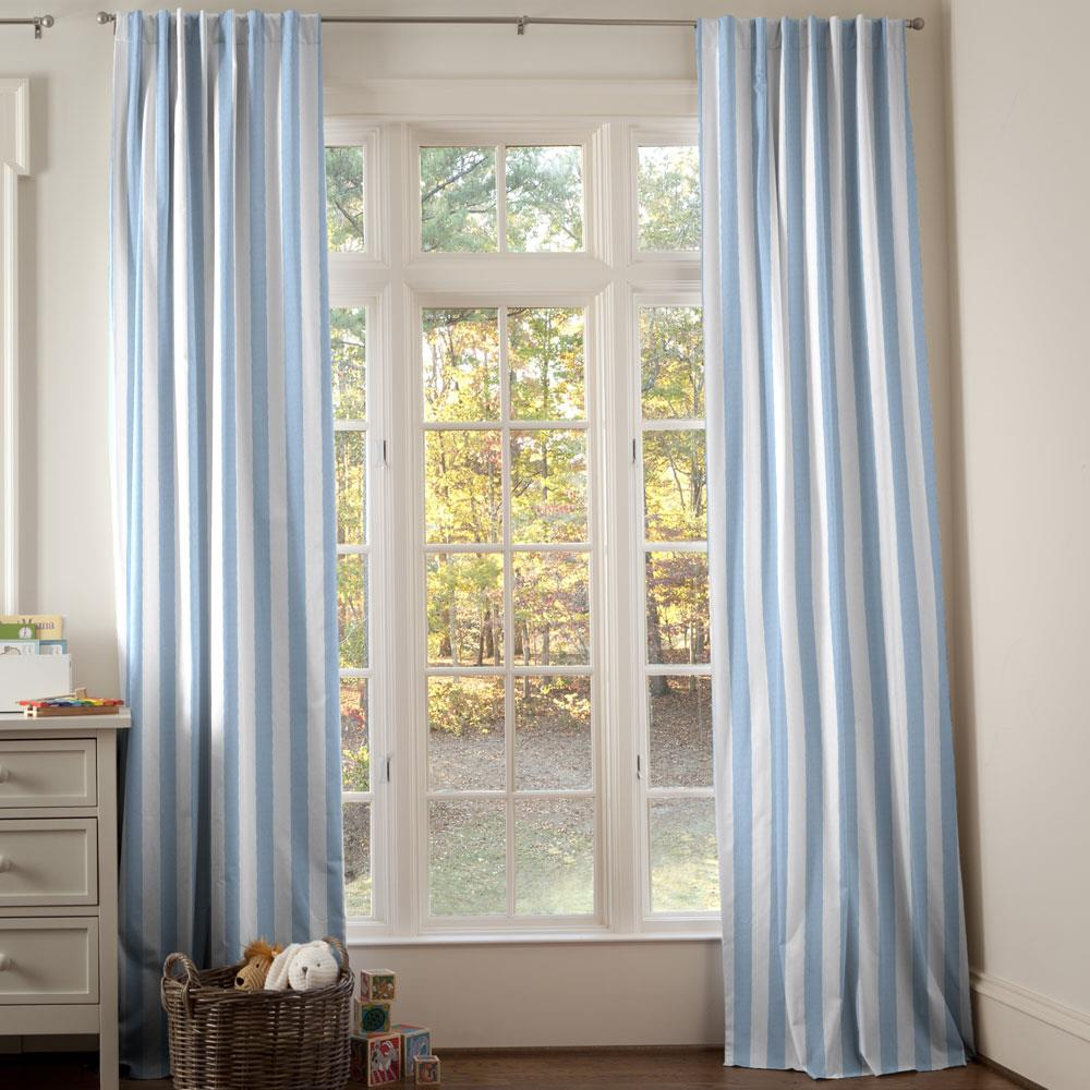 Product image for Blue Giddy Stripe Drape Panel