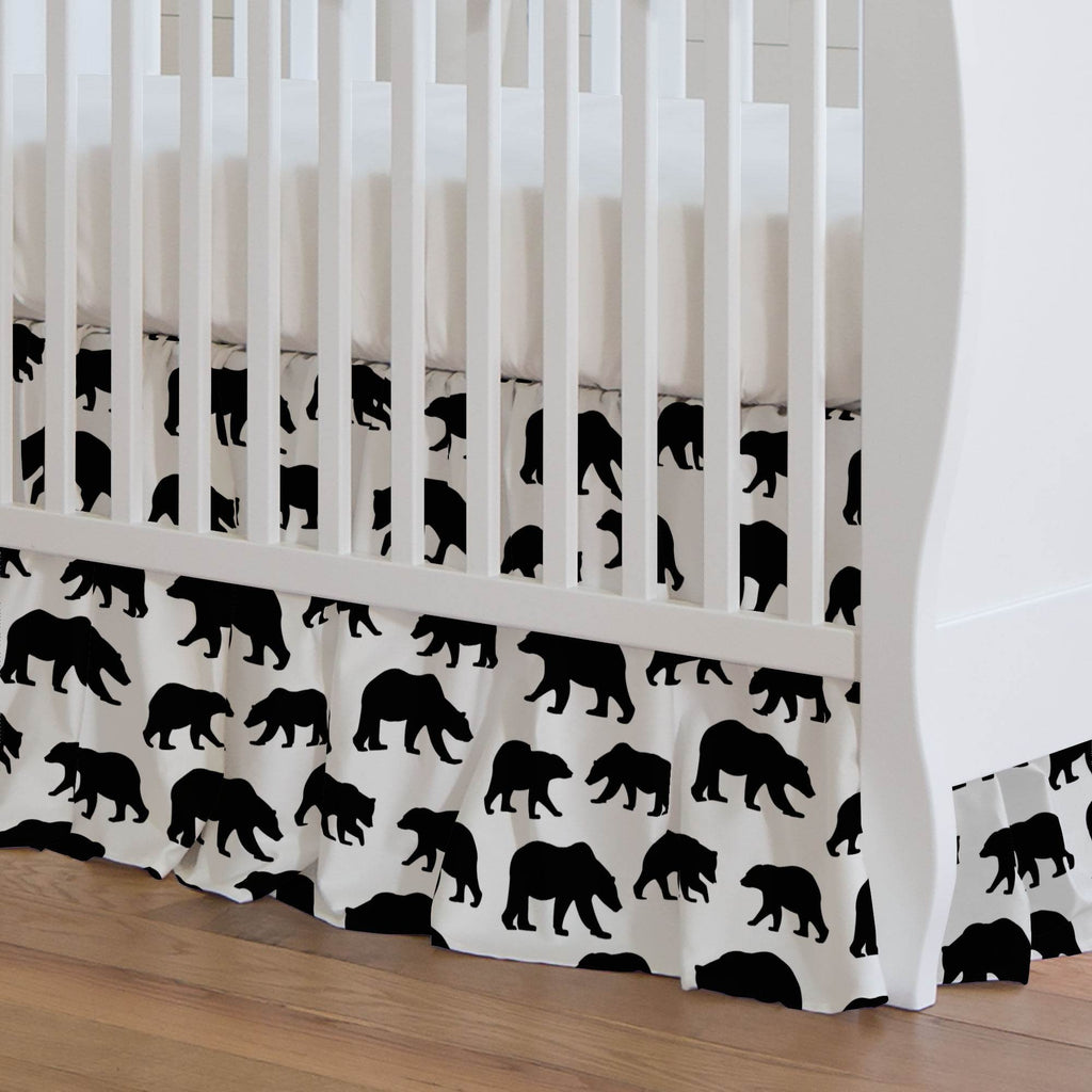 Product image for Onyx Bears Crib Skirt Gathered
