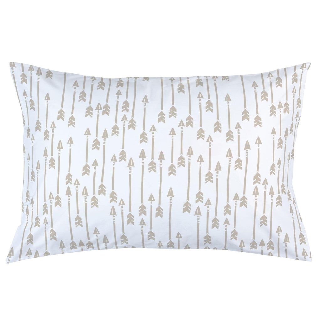 Product image for Taupe Flying Arrow Pillow Case
