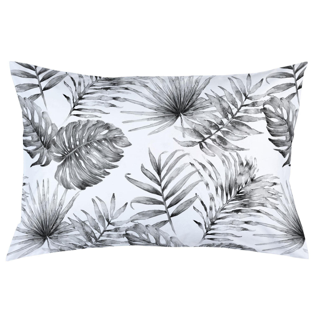 Product image for Gray Painted Tropical Pillow Case