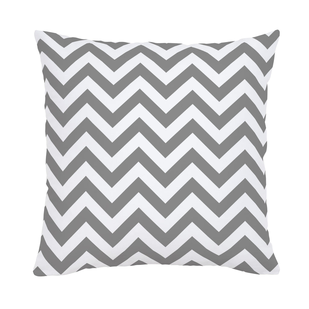 Product image for White and Gray Zig Zag Throw Pillow