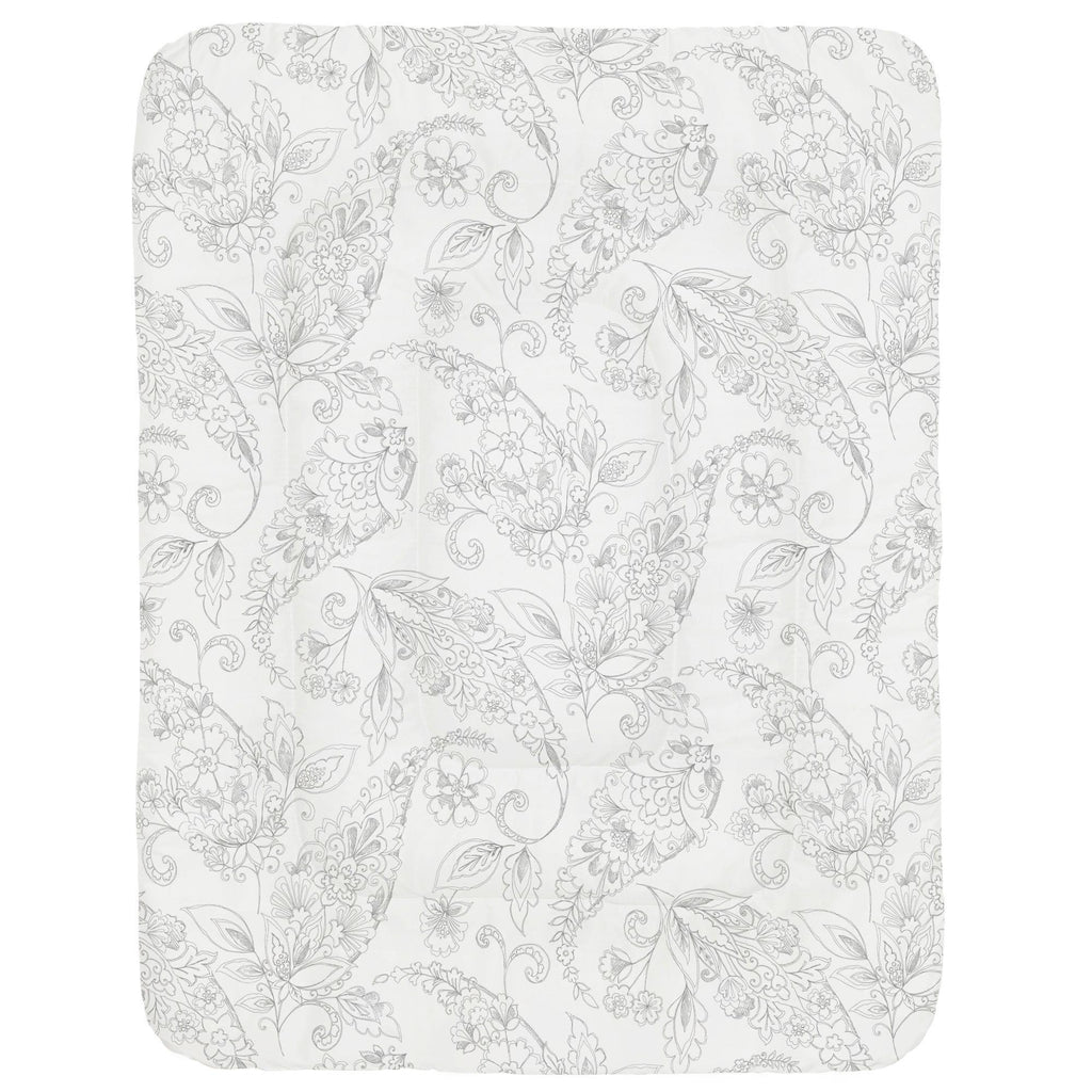 Product image for Cloud Gray Sketchbook Floral Crib Comforter
