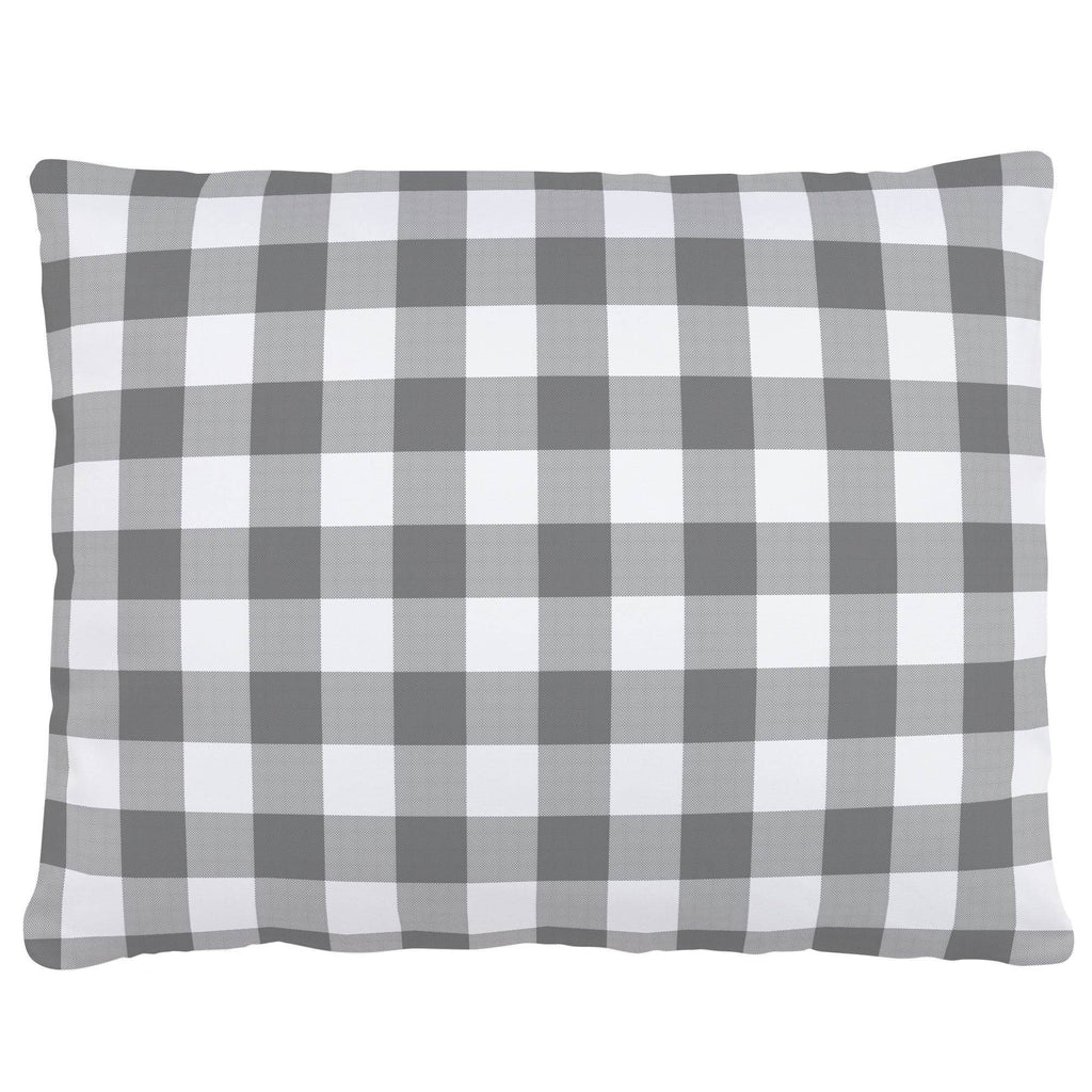 Product image for Gray Gingham Accent Pillow