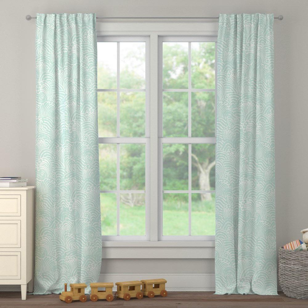 Product image for Icy Mint Seas Drape Panel