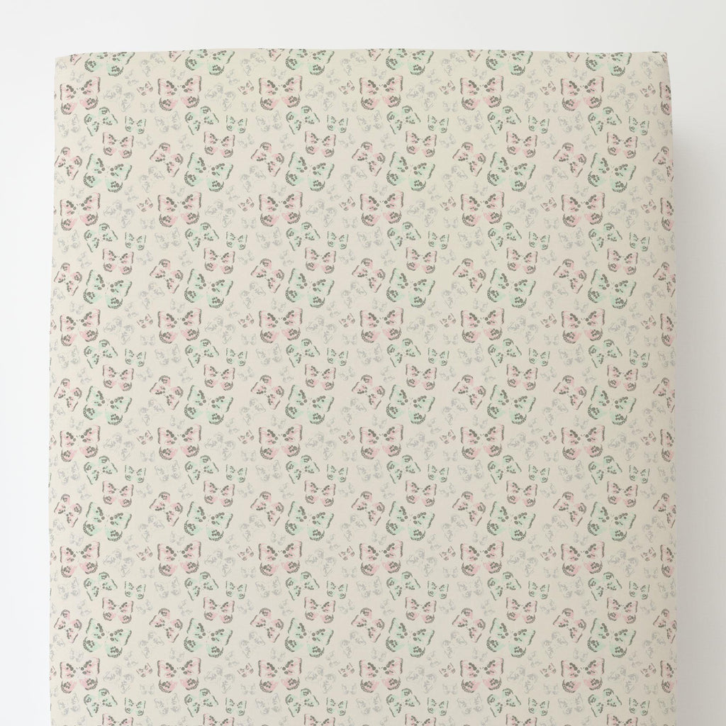 Product image for Blush and Ivory Butterfly Toddler Sheet Bottom Fitted