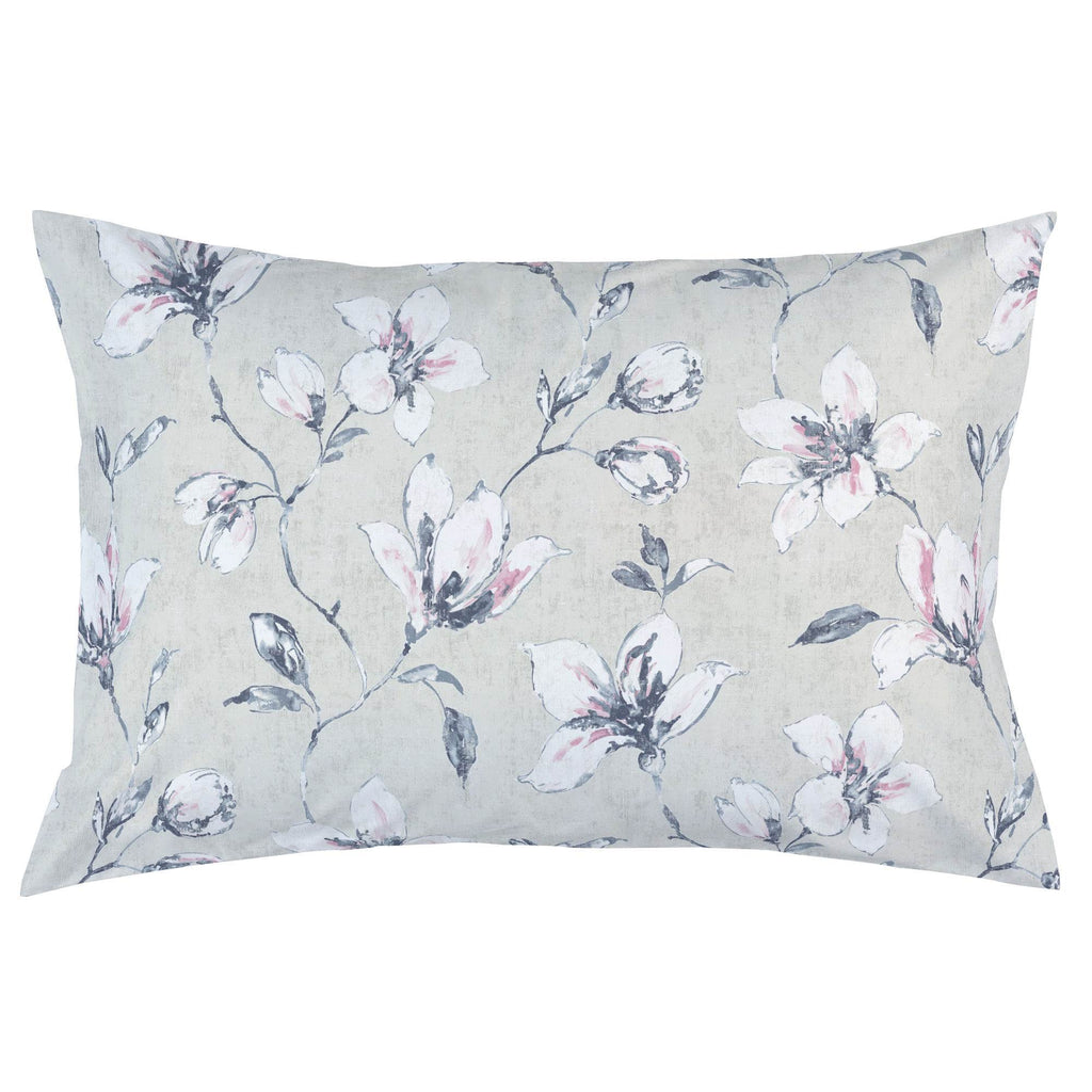 Product image for Pink and Blue Painted Lilies Pillow Case