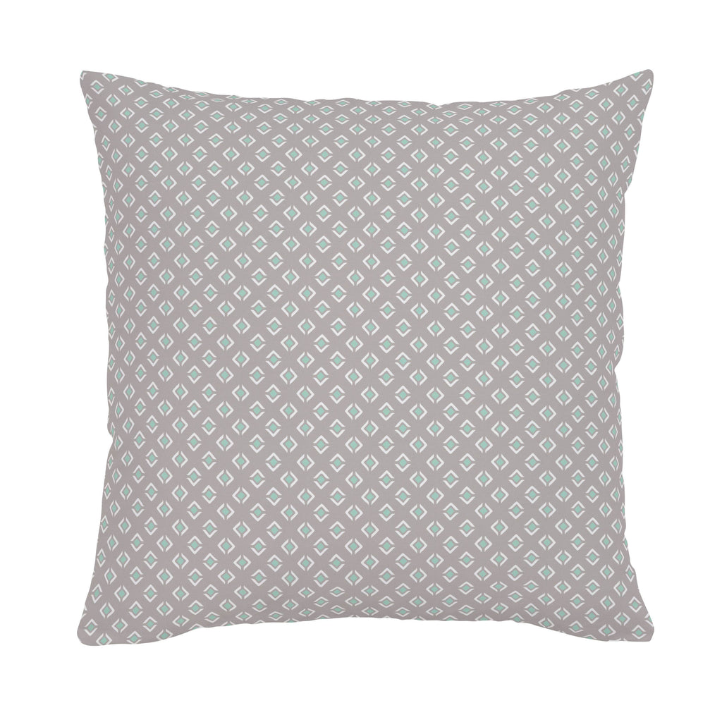 Product image for Taupe and Mint Diamond Throw Pillow