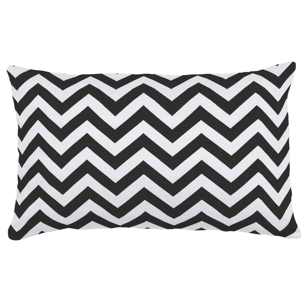 Product image for Black and White Zig Zag Lumbar Pillow