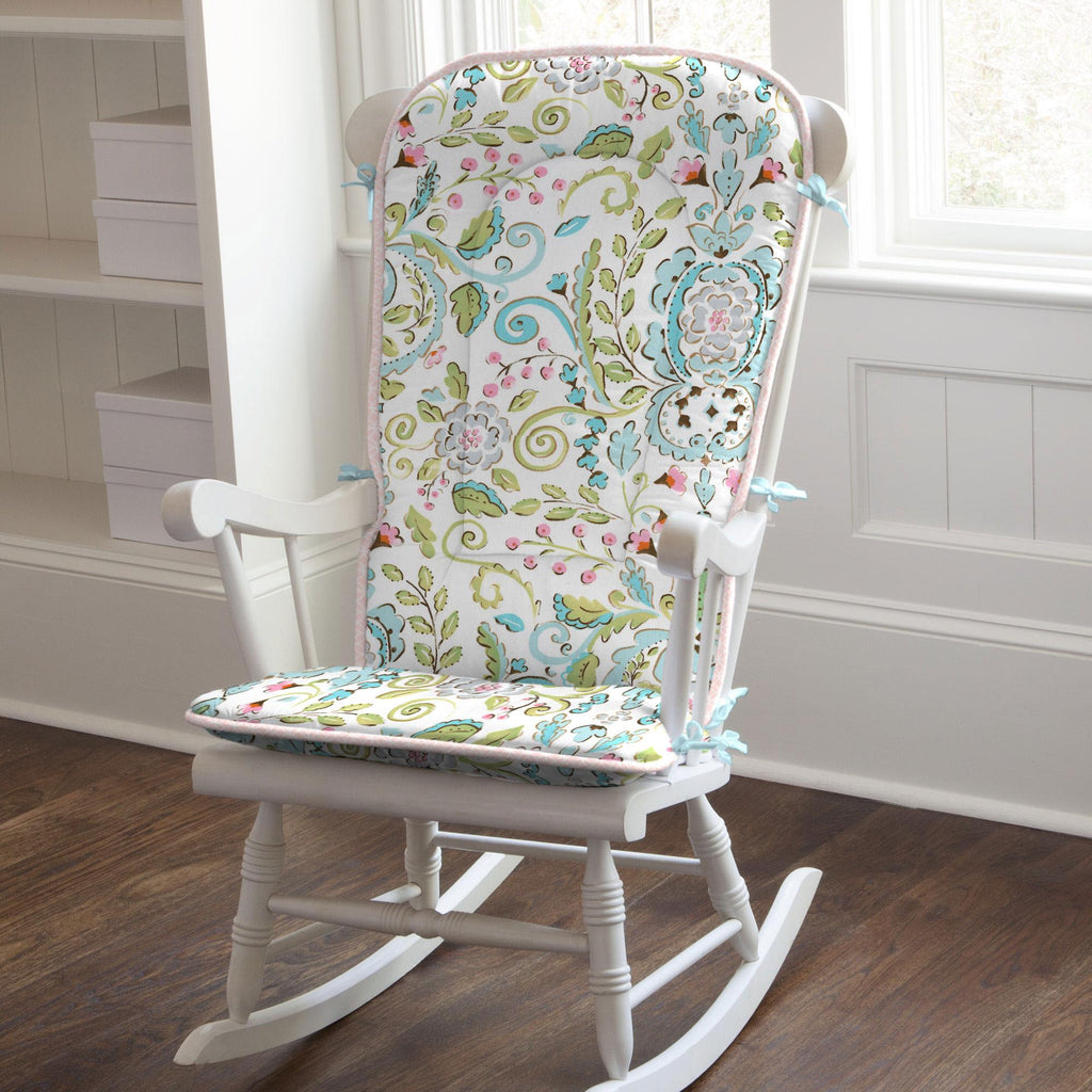 Product image for Love Bird Damask Rocking Chair Pad