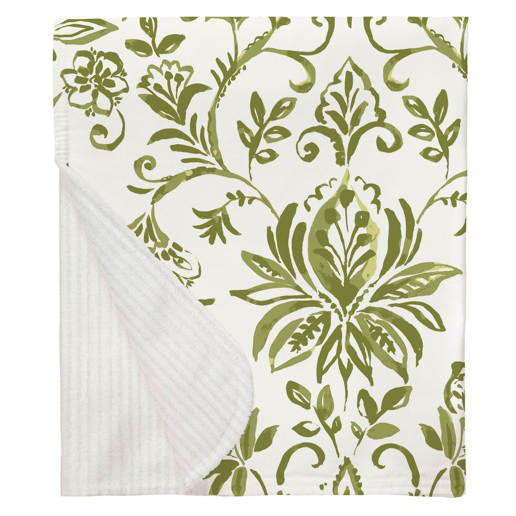 Product image for Sage Coastal Damask Baby Blanket