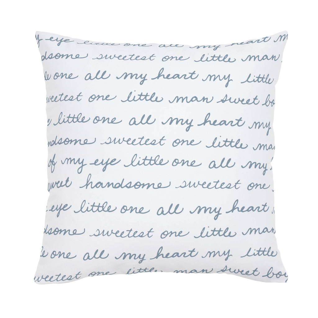 Product image for Steel Blue Sweet Boy Throw Pillow