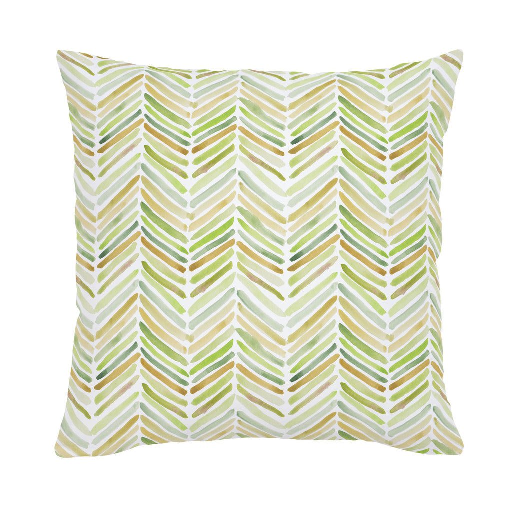 Product image for Green Painted Chevron Throw Pillow