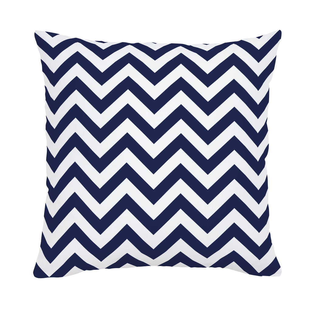 Product image for White and Navy Zig Zag Throw Pillow