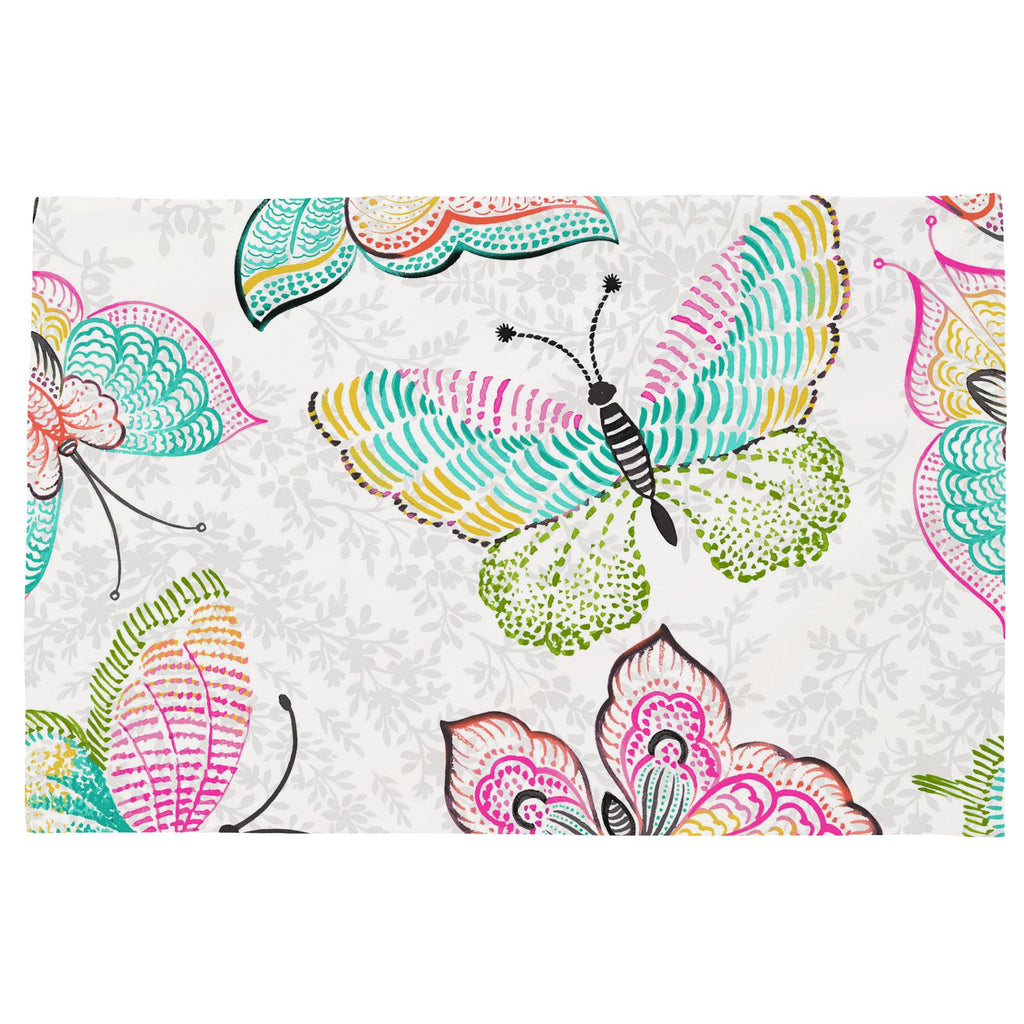 Product image for Bright Damask Butterflies Toddler Pillow Case