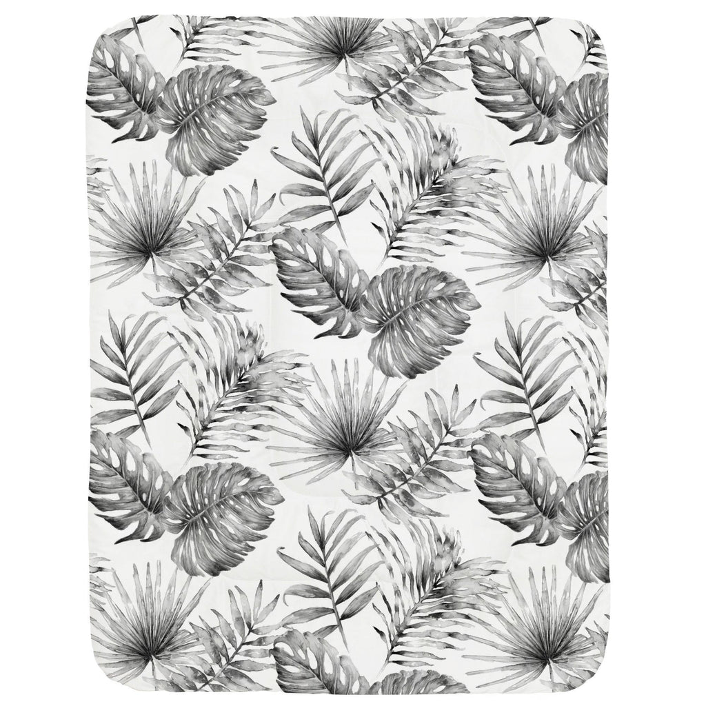 Product image for Gray Painted Tropical Crib Comforter