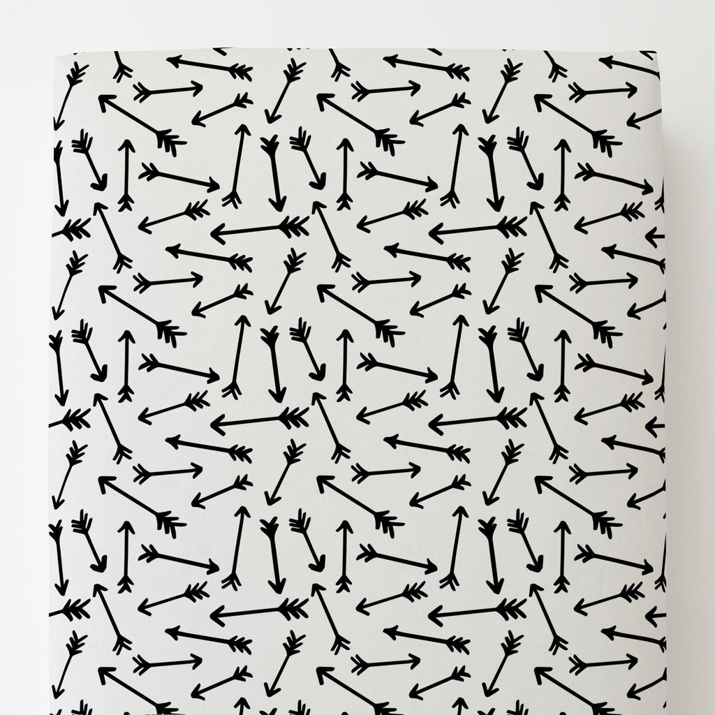 Product image for Onyx Whimsical Arrows Toddler Sheet Bottom Fitted