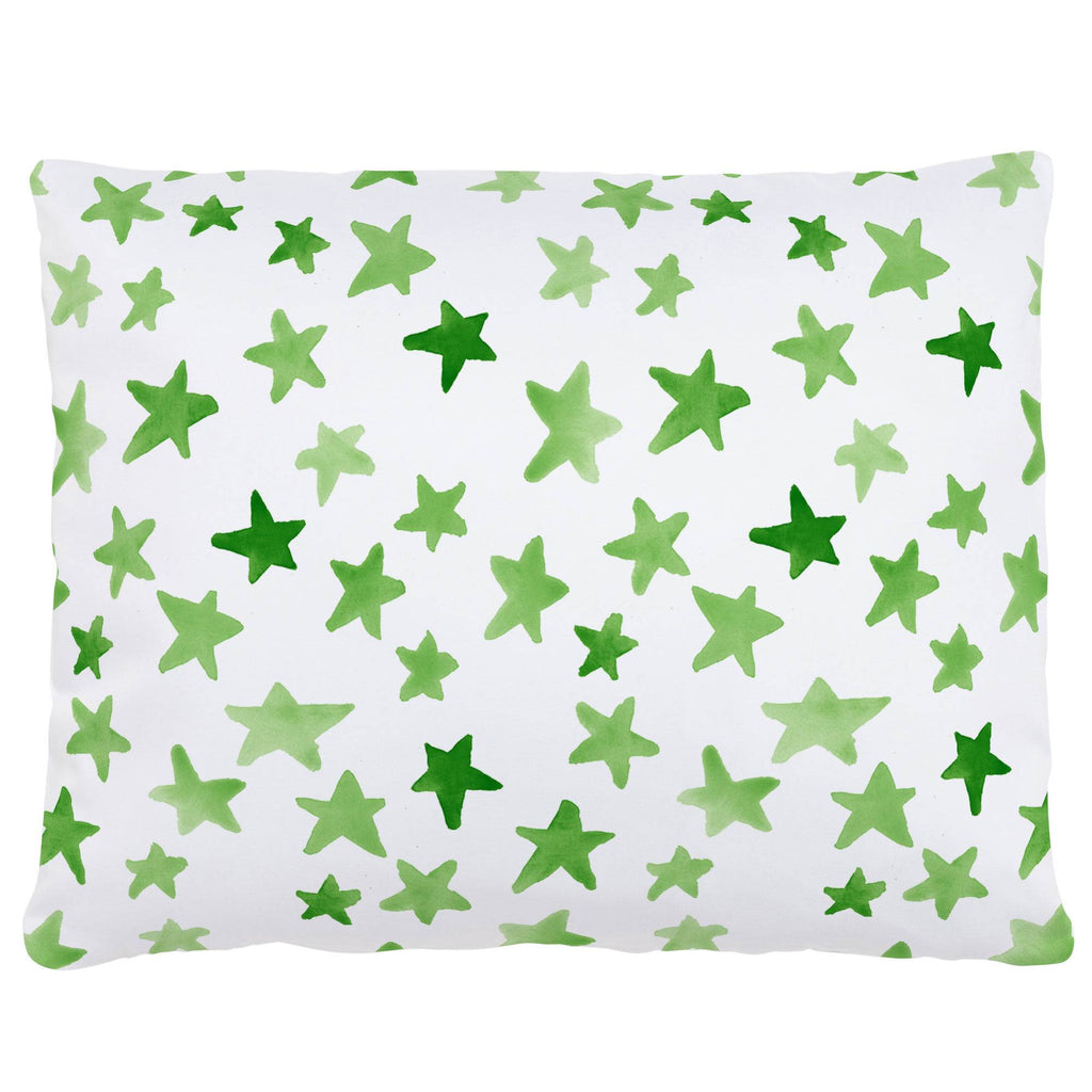 Product image for Green Watercolor Stars Accent Pillow