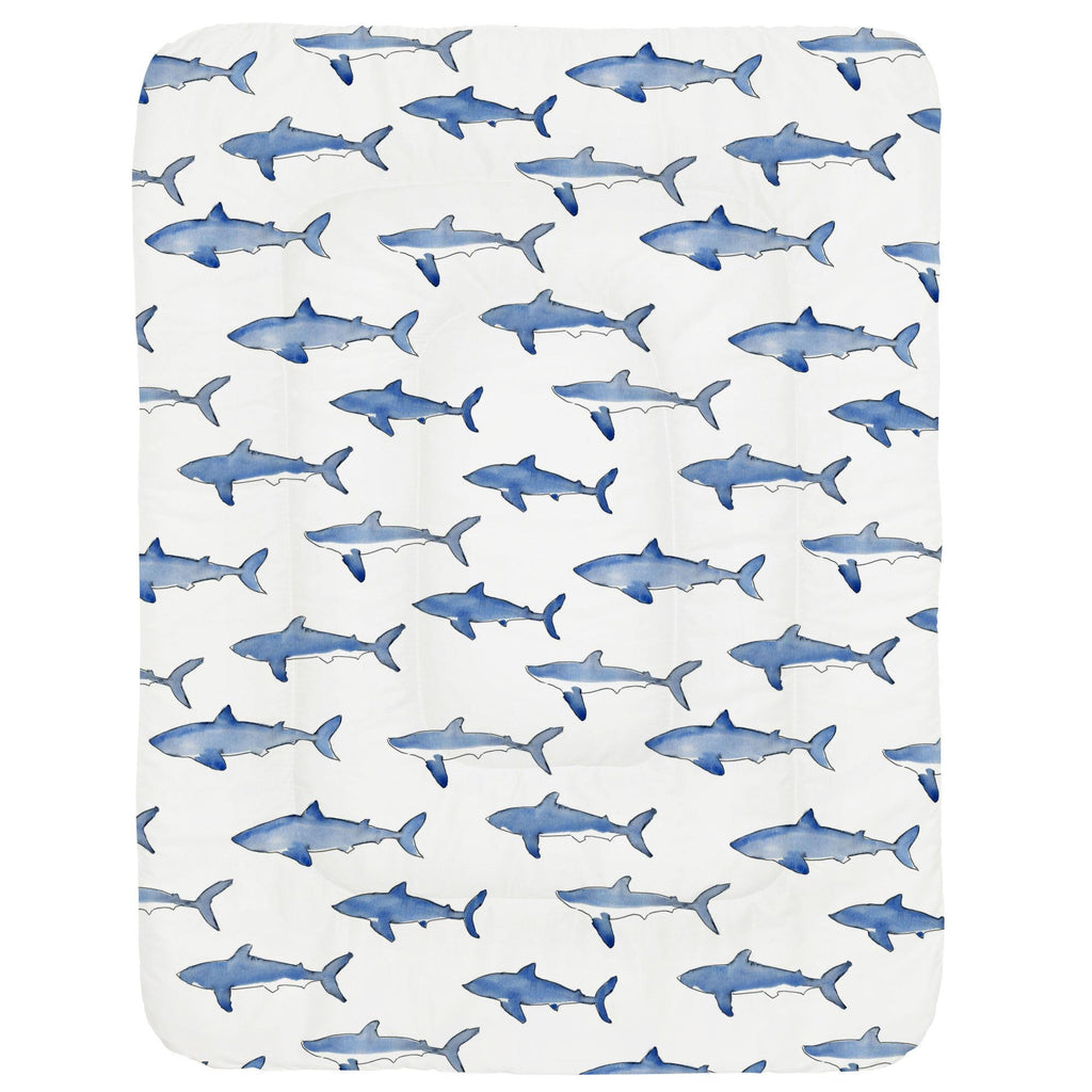 Product image for Blue Sharks Crib Comforter